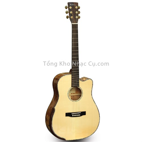 Đàn Guitar Acoustic Poshman Beveled SD100-LMT