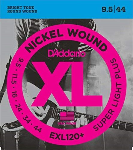 Dây Đàn Electric Guitar D'Addario EXL120+ (Nickel Wound - Super Light Plus)