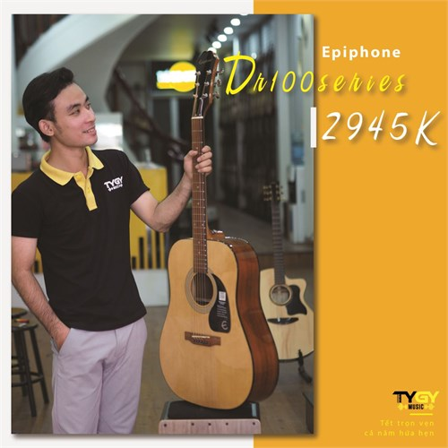 Đàn Guitar Acoustic Epiphone DR-100 Natural