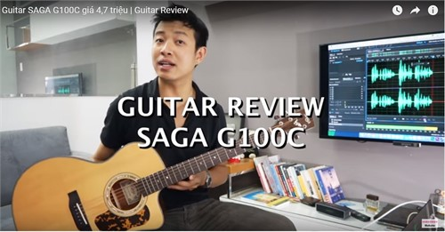 Review Guitar Acoustic Saga G100C (4tr700k)