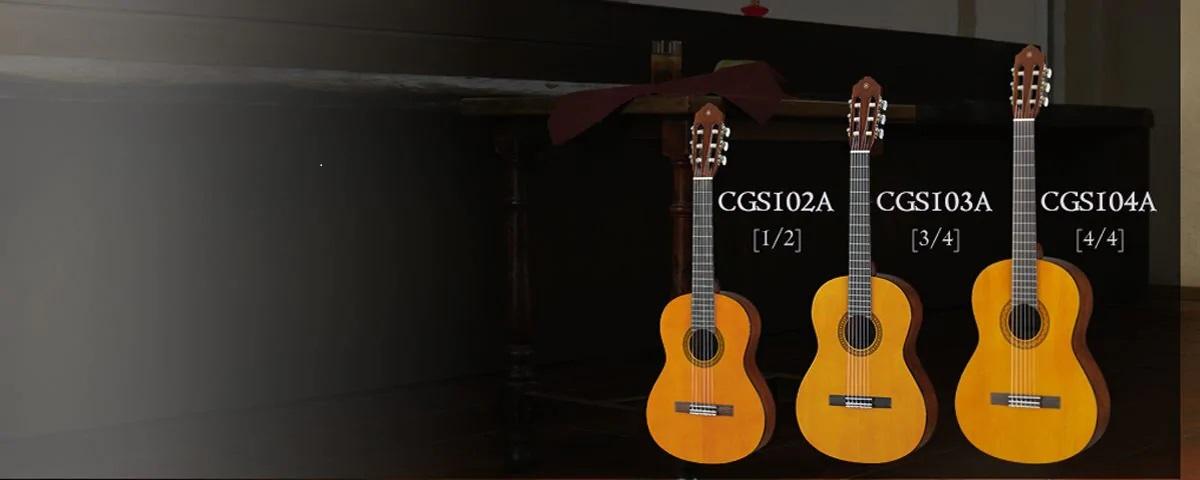 đàn guitar classic mini yamaha cỡ nhỏ 1/2 cgs102a